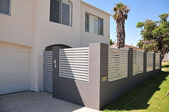 Aluminium Slatted Gates And Fencing Fencing Solutions